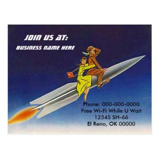 Cartão Postal PC da equitação do céu dos cavaleiros do navio de