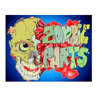 Cartão Postal Peças do zombi