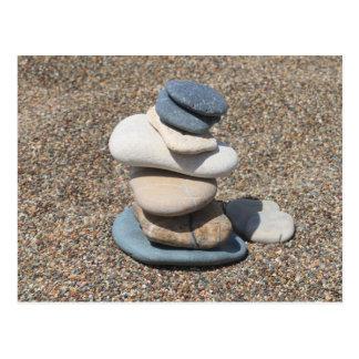 Cartão Postal Pedras do zen