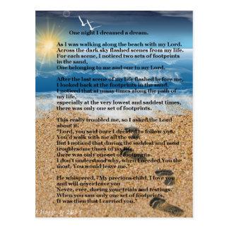 Cartão Postal Pegadas na areia