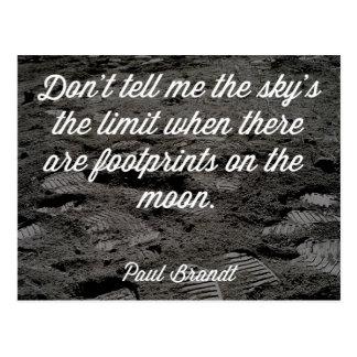 Cartão Postal Pegadas nas citações da lua