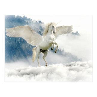 Cartão Postal Pegasus Horned