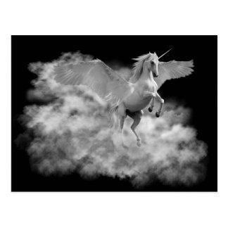 Cartão Postal Pegasus. O vôo do alvorecer