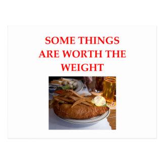 Cartão Postal peixe com batatas fritas