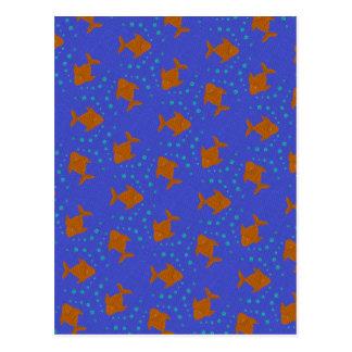 Cartão Postal Peixes azuis