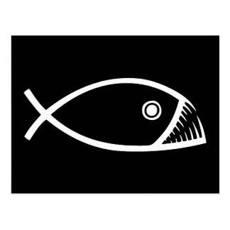 Cartão Postal Peixes da evolução