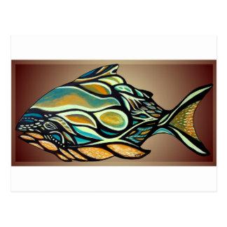 Cartão Postal Peixes do Haida