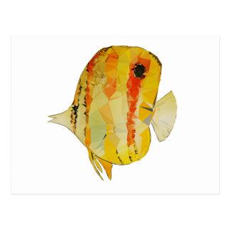 Cartão Postal Peixes geométricos