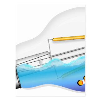 Cartão Postal Peixes na ampola