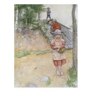 Cartão Postal Pela adega por Carl Larsson