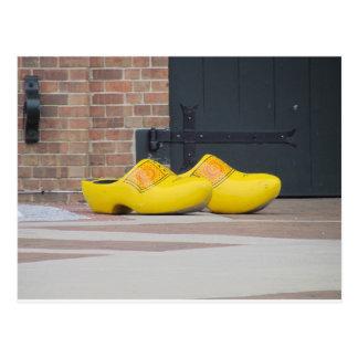 Cartão Postal Pella, Iowa, calçados holandeses de madeira