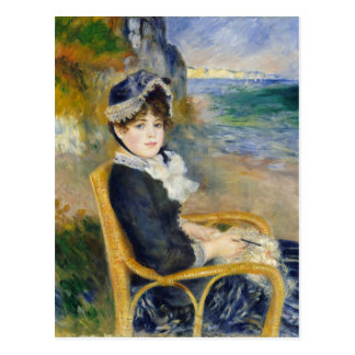Cartão Postal Pelo litoral por Renoir