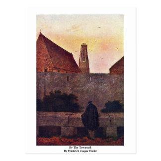 Cartão Postal Pelo Townwall por Friedrich Caspar David