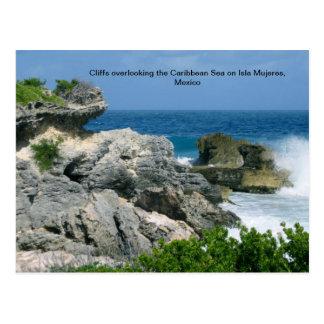 Cartão Postal Penhasco em Isla Mujeres