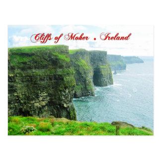 Cartão Postal Penhascos de Moher, condado Clare, Ireland