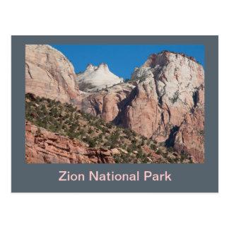 Cartão Postal Penhascos do parque nacional de Zion