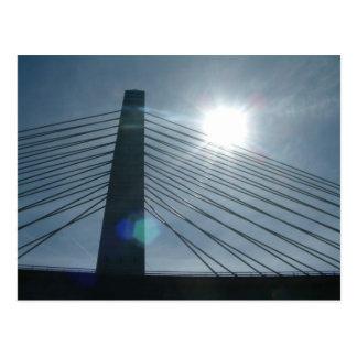 Cartão Postal Penobscot reduz a ponte
