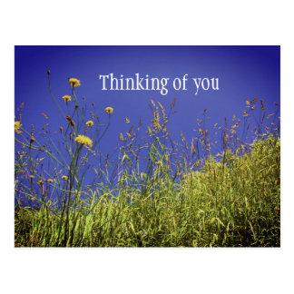 Cartão Postal Pensamento de você