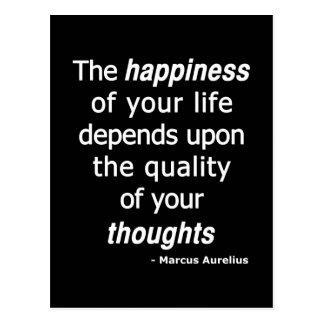 Cartão Postal Pensamentos da qualidade? Então uma vida feliz…