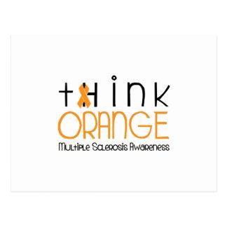 Cartão Postal Pense a laranja - consciência da esclerose