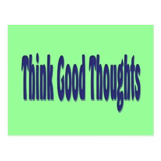 Cartão Postal Pense bons pensamentos