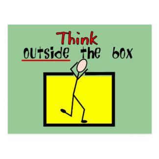 Cartão Postal Pense fora da caixa