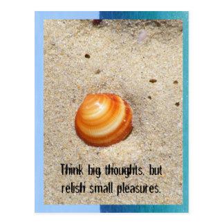 Cartão Postal Pense pensamentos grandes, mas reli…