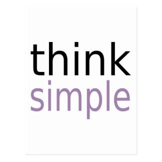 Cartão Postal Pense simples (a edição roxa)