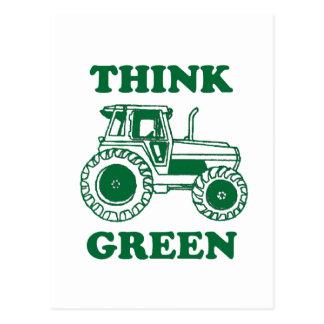 Cartão Postal Pense verde