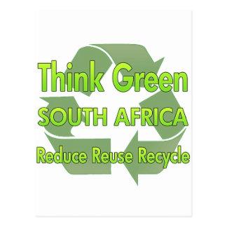 Cartão Postal Pense verde África do Sul