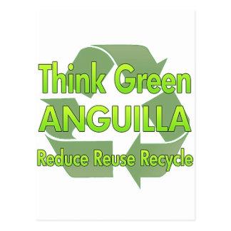 Cartão Postal Pense verde Anguilla