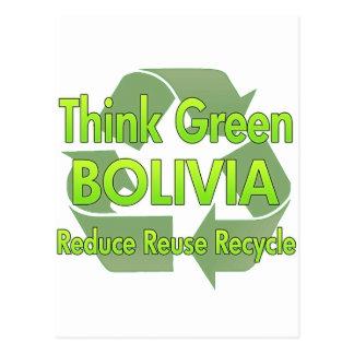 Cartão Postal Pense verde Bolívia