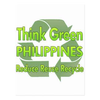 Cartão Postal Pense verde Filipinas