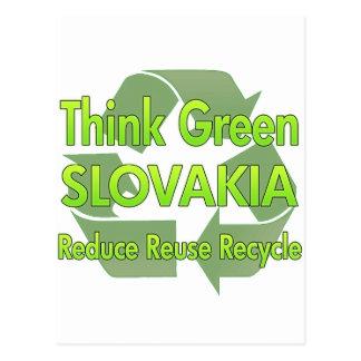 Cartão Postal Pense verde Slovakia