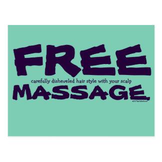 Cartão Postal Penteado livre CUSTOMIZÁVEL engraçado com massagem