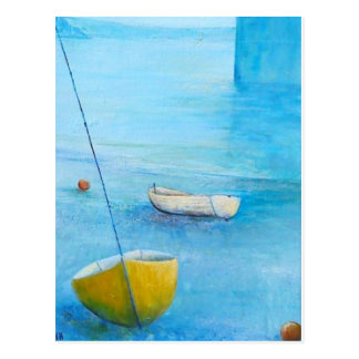 Cartão Postal Penzance na maré baixa