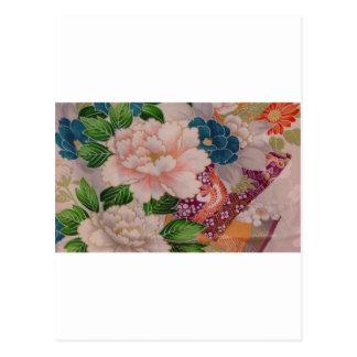 Cartão Postal Peônias de papel de Japão