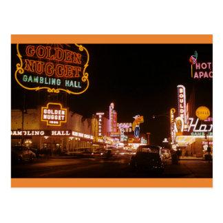 Cartão Postal Pepita 1952 do ouro de Las Vegas do vintage