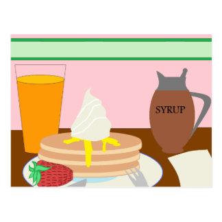Cartão Postal Pequeno almoço