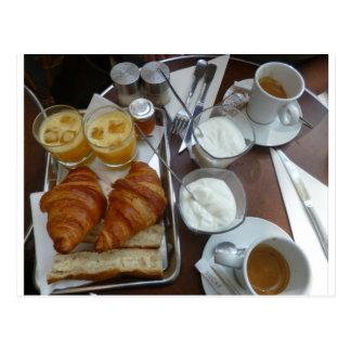 Cartão Postal Pequeno almoço francês