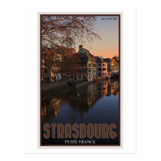 Cartão Postal Pequeno France nascer do sol de Strasbourg -