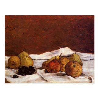 Cartão Postal Peras e uvas de Paul Gauguin-