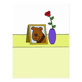 Cartão Postal Perda de cão de estimação amado, simpatia