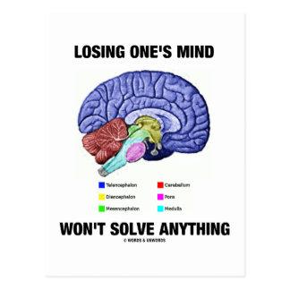 Cartão Postal Perder sua mente não resolverá qualquer coisa (o