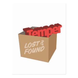 Cartão Postal Perdido e encontrado: Têmpera