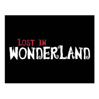 Cartão Postal Perdido no país das maravilhas