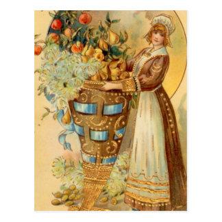 Cartão Postal Peregrino com chifre da colheita