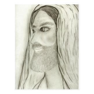 Cartão Postal Perfil de Jesus