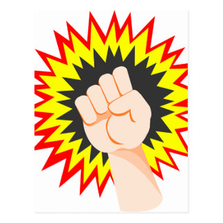 Cartão Postal Perfurador da energia do poder do braço da força