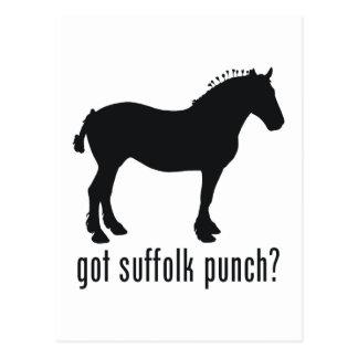 Cartão Postal Perfurador do Suffolk